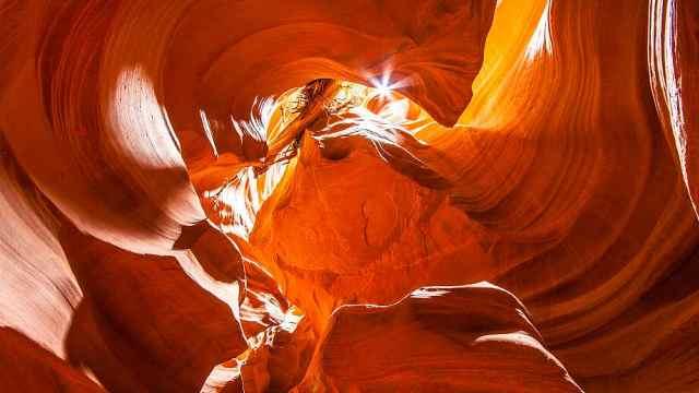 """美国这所峡谷被称为""""羚羊"""""""