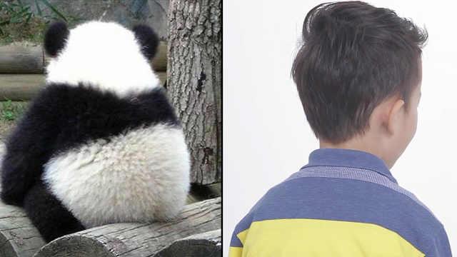 我服!小朋友竟然这样模仿熊猫