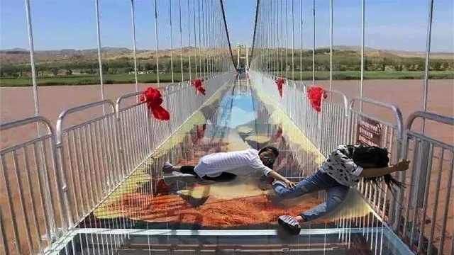 中国首座黄河3D玻璃桥