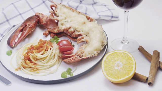 精致从美食开始,芝士龙虾焗意面