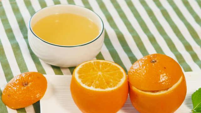 盐蒸橙子,天冷预防着凉感冒