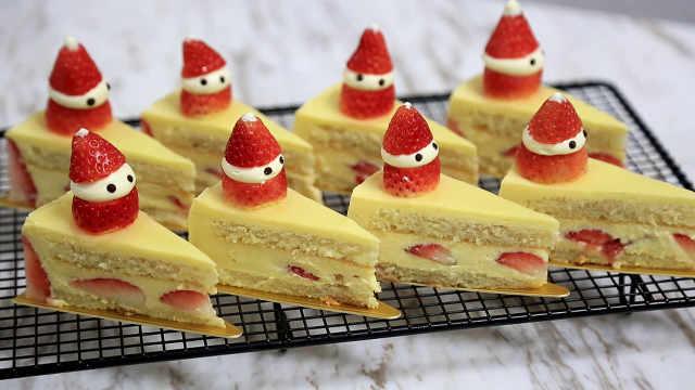 圣诞雪人草莓蛋糕