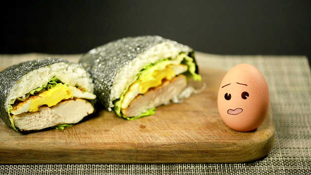 超级简单的饭团三明治,好吃到哭