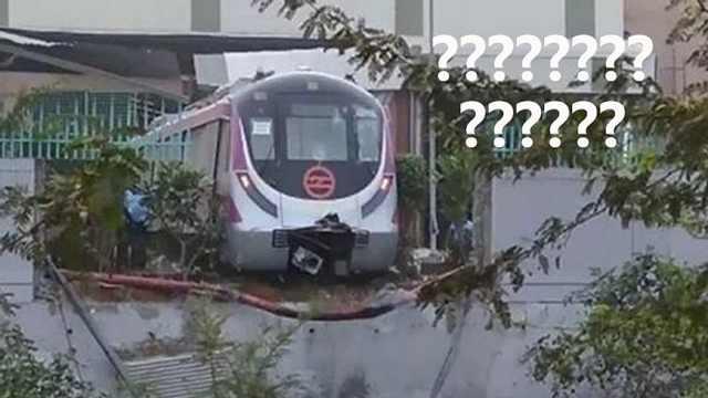 印度无人地铁首测撞墙!