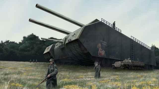 足足有三层楼高,人类五款超级坦克