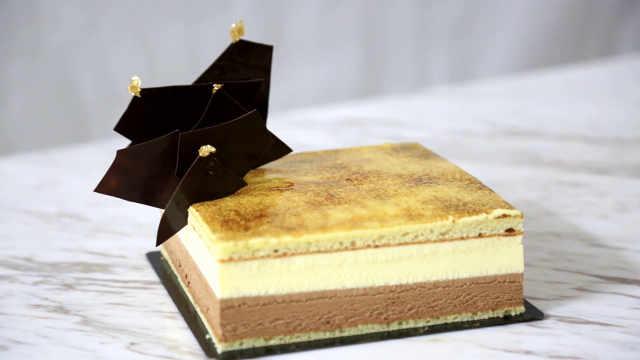 香草巧克力慕斯蛋糕