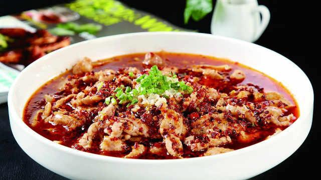 蜀味:水煮肉这么煮,肉质才鲜嫩!