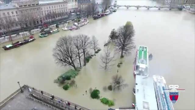 巴黎发布洪水警报,塞纳河水位上升