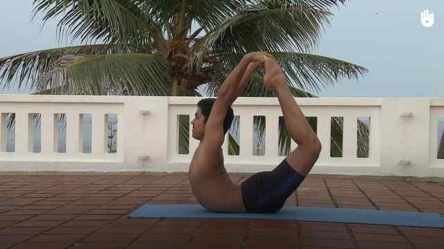 印度古式瑜伽教学:脚弓式
