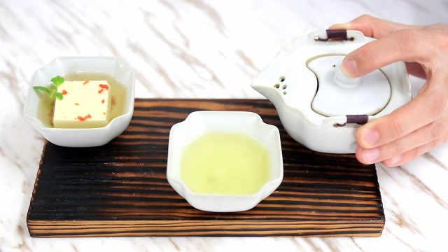 桂花乌龙茶豆腐,零失败小甜品!