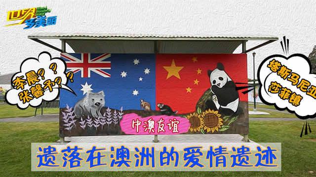 偶遇李晨张馨予在澳大利亚画的壁画