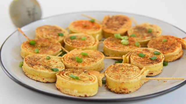 自制小零食——香煎豆皮