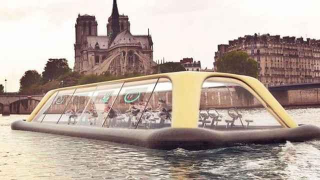 漂浮在塞纳河上的健身房,想试试吗
