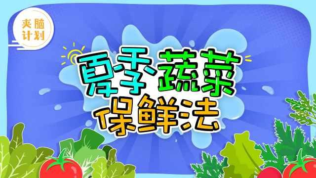 夏季蔬菜保鲜法