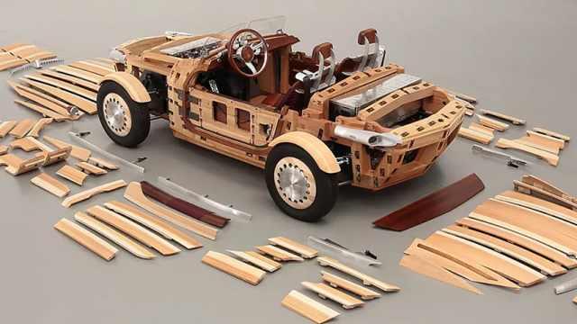 """用""""木头""""造的日本车"""