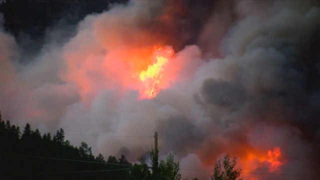 美國科羅拉多州山火蔓延