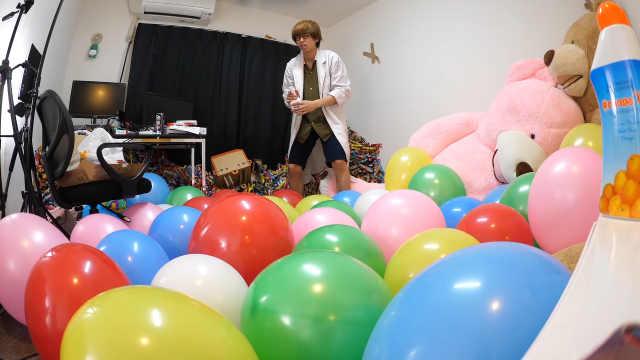 搞笑实验:体验气球爆炸前的恐惧