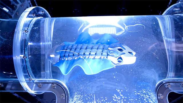 这条仿生机器鱼可以在水中自如游动