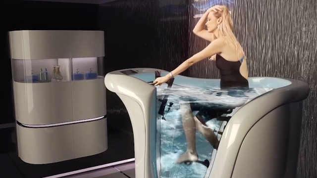 世界上最累人的浴缸,边泡澡边减肥