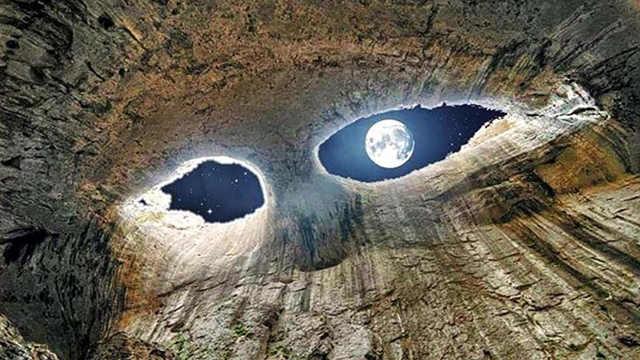 """保加利亚山洞犹如""""上帝之眼"""""""