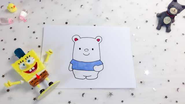 domi一分钟教你手绘小熊