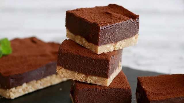 零失败巧克力蛋糕,不用烘烤的甜点