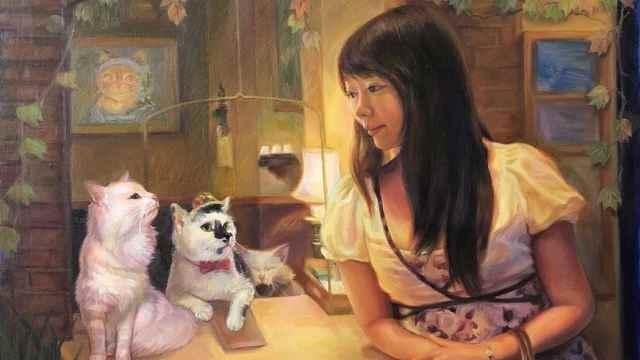 她救助流浪猫十余年,自学油画记录