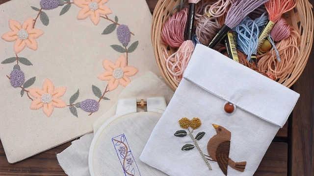 小裁缝教你做个刺绣小布袋
