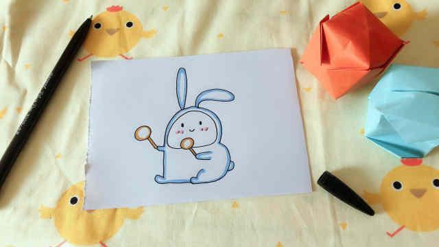 domi教你手绘超软萌小兔子!