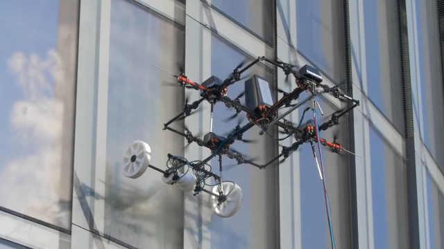 荷兰公司研发无人机的清洁灭火功能