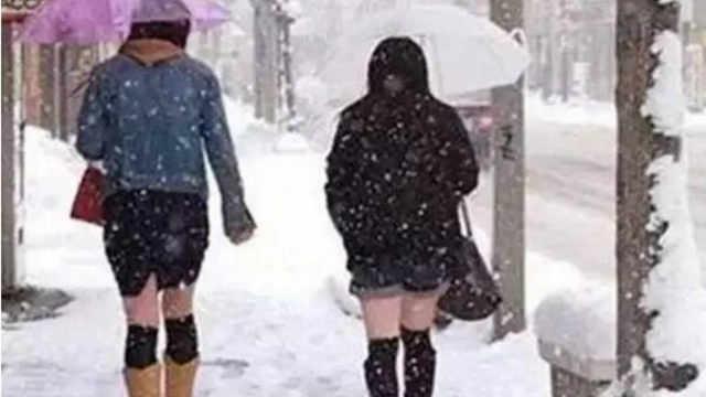 为什么日本女生冬天从来不穿羽绒服