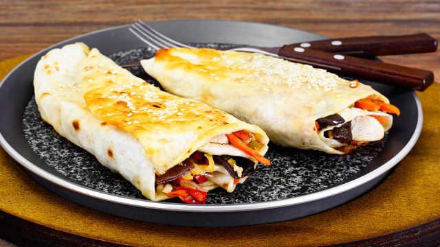 墨西哥卷饼,卷起来的美味