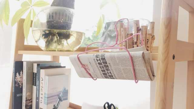旧衣架改造之ipad架和报纸架