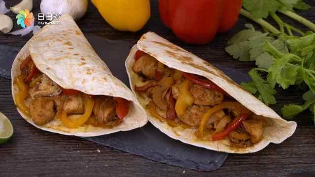 一个香辣墨西哥鸡卷,轻松搞定一餐