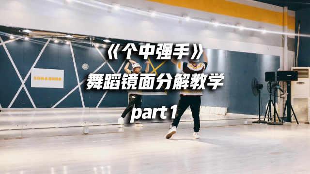 《个中强手》舞蹈分解教学part1