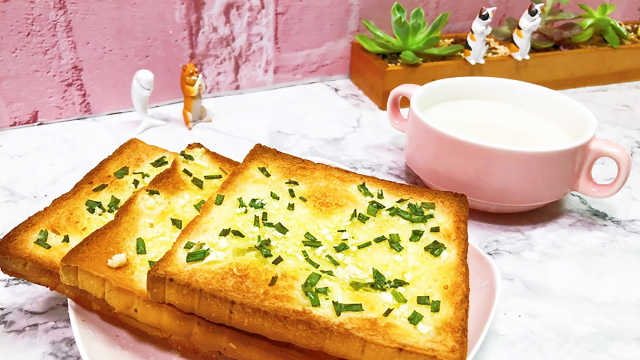 早餐可以很简单,蒜香吐司超美味!