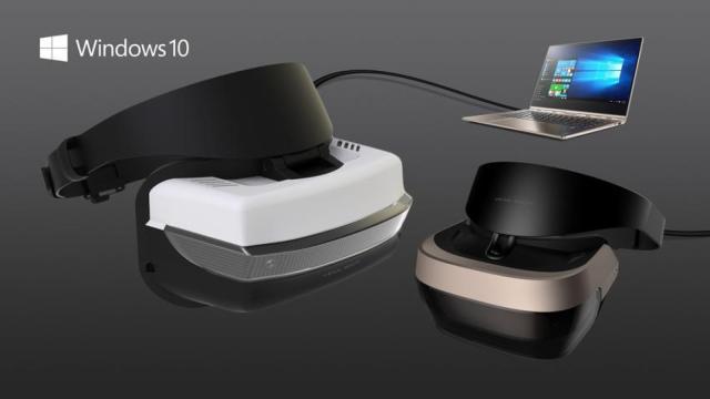 微软发布VR头盔 拥有六方向自由