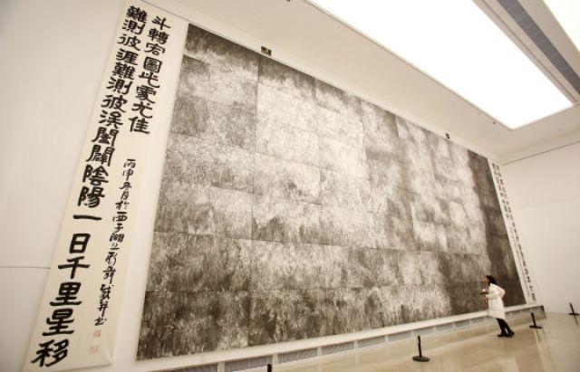 56平方米巨幅国画《钱江潮》亮相