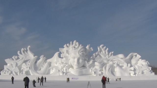 超养眼!看哈尔滨冰雪世界如何炼成