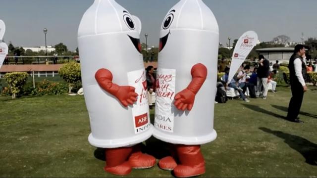 预防艾滋,印度庆祝国际套套日