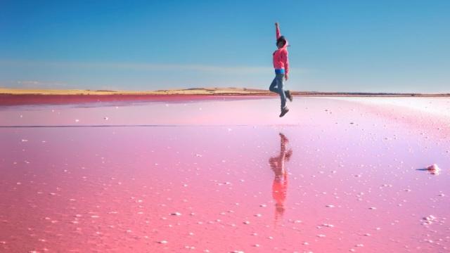 澳大利亚粉红湖:令人陶醉的少女梦
