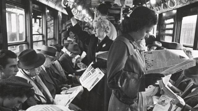 70年前,纽约地铁通勤数就等同现在