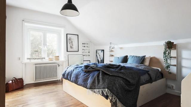 瑞典高格调的阁楼公寓