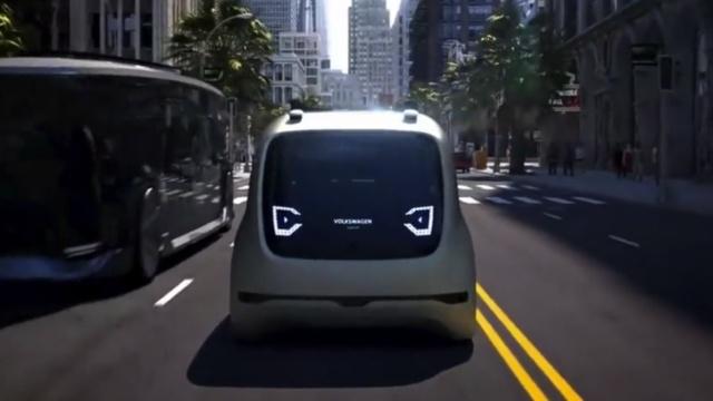 大众首款无人驾驶车:萌萌小宠物