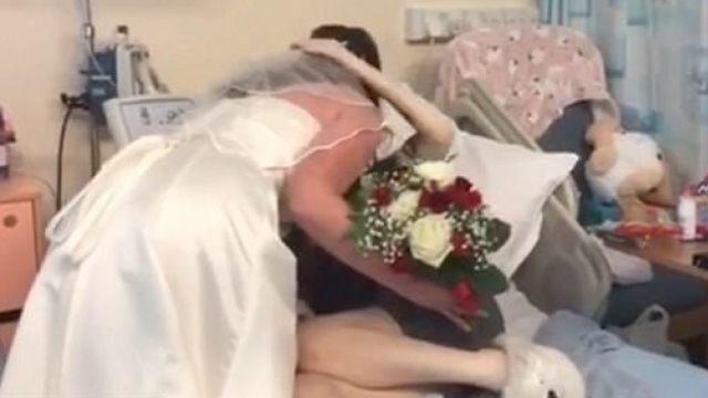妹妹患病住院,姐姐穿婚纱意外现身