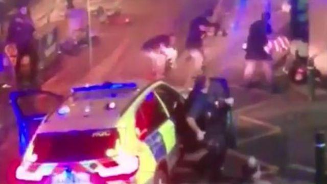 伦敦警方击毙袭击者,激烈堪比大片