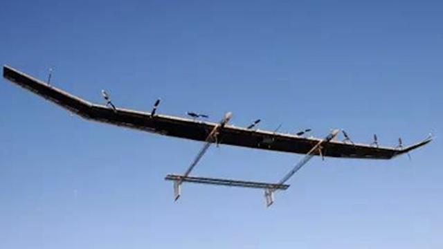 中国首架太阳能无人机试飞成功