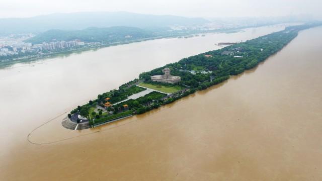 直播:橘子洲头被淹,湘江水位告急