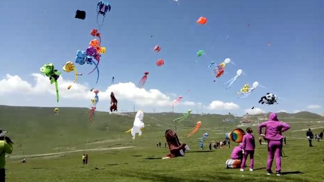 4千米高原放风筝,边炫技边抗高反