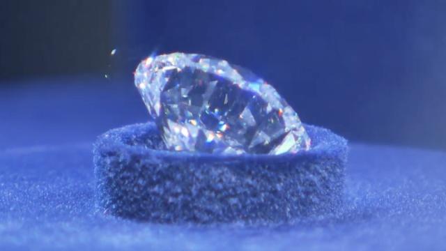 俄展出5颗最贵钻石:个头大成色足